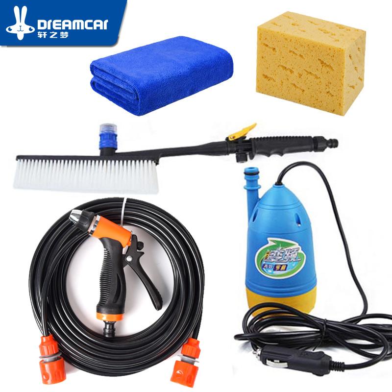 High pressure 12v washing machine car portable car wash device 220v household washing pump car tools water gun car washer high(China (Mainland))