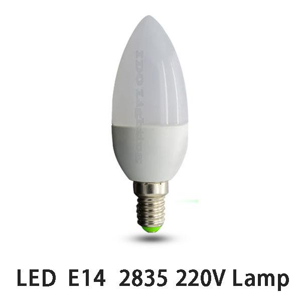 Гаджет  4PCS Free Shipping High Brightness AC220V LED Bulb E14 3W 2835SMD Candle Light Cool/Warm White 360 Degree PC Shell Bulb Lamps None Свет и освещение