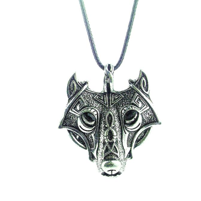 1pcs high quality COOL Style Norse Vikings Pendant Necklace Norse Wolf Head Necklace Original Animal Jewelry Wolf Head hange(China (Mainland))