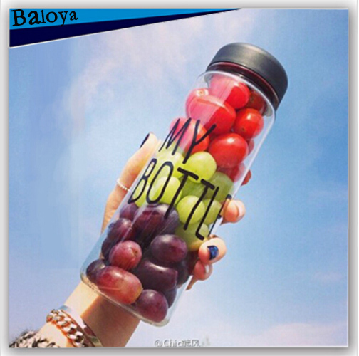 My bottle 500ml with gift bag plastic water bottle sport/cycle/bike cup my bottl/botle/bootle(China (Mainland))