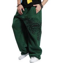 Unique Design Men's Spring and Autumn Plus Size Pants Male Loose Sports Pants Water Wash Hiphop Pants