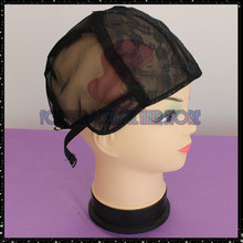 5 PCS/Lot Black Wig Making Cap Top Stretch Weaving Cap Back adjustable Strap for making wigs(China (Mainland))