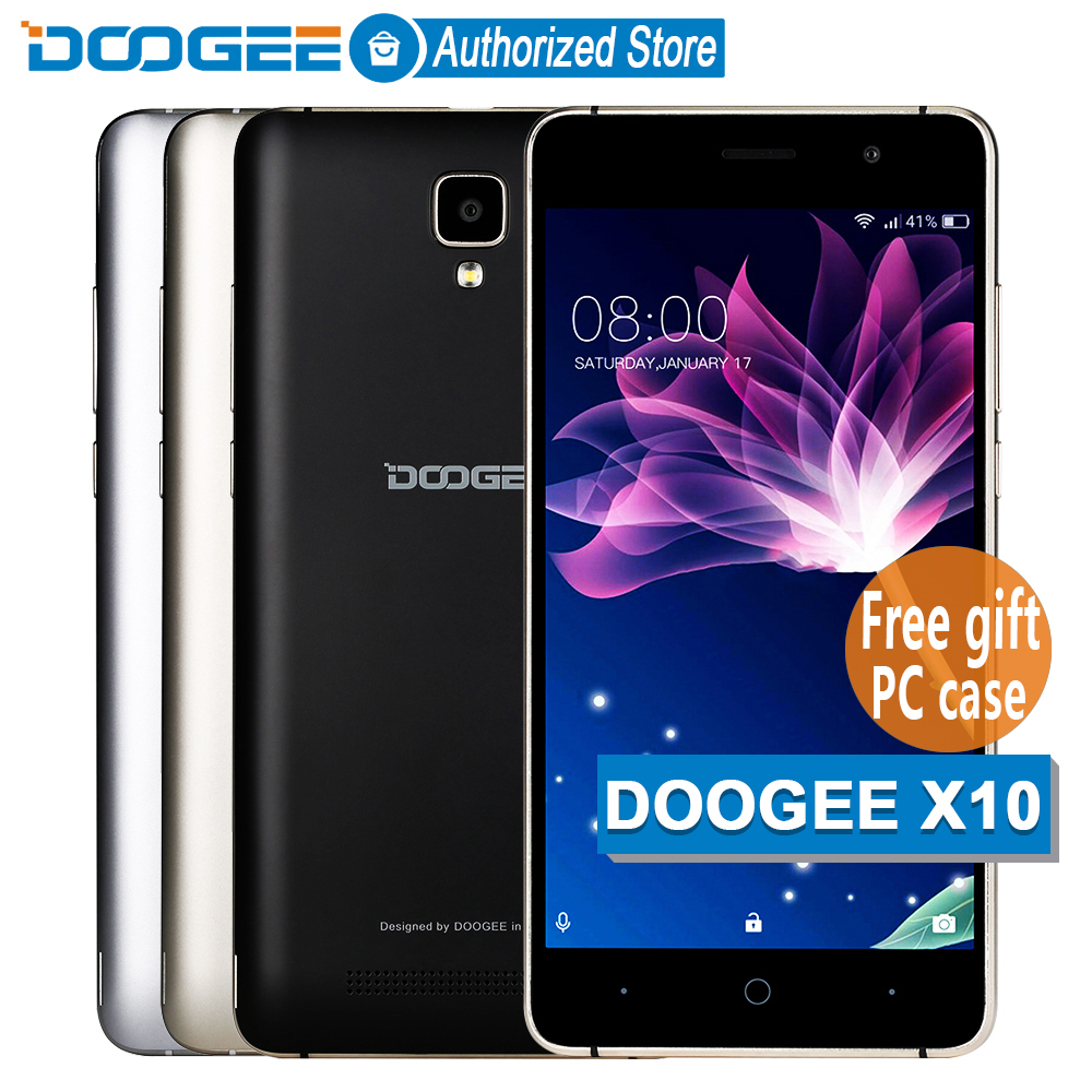 In Stock Now DOOGEE X10 mobile phones 5.0Inch IPS 8GB Android6.0 smart phone Dual SIM MTK6570 5.0MP 3360mAH WCDMA GSM cellphone(China (Mainland))