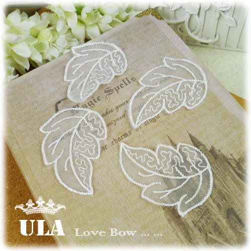 embroidery appliques leaves designs DIY Decoration Lace Fabric Paste Decoraive Cloth  Lace Applique wedding appliques 120pcs/lot