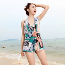 explosion of swimwear swimsuit boxer Bikini lady coat gather three pieces of thin steel cover belly support wholesale(China (Mainland))