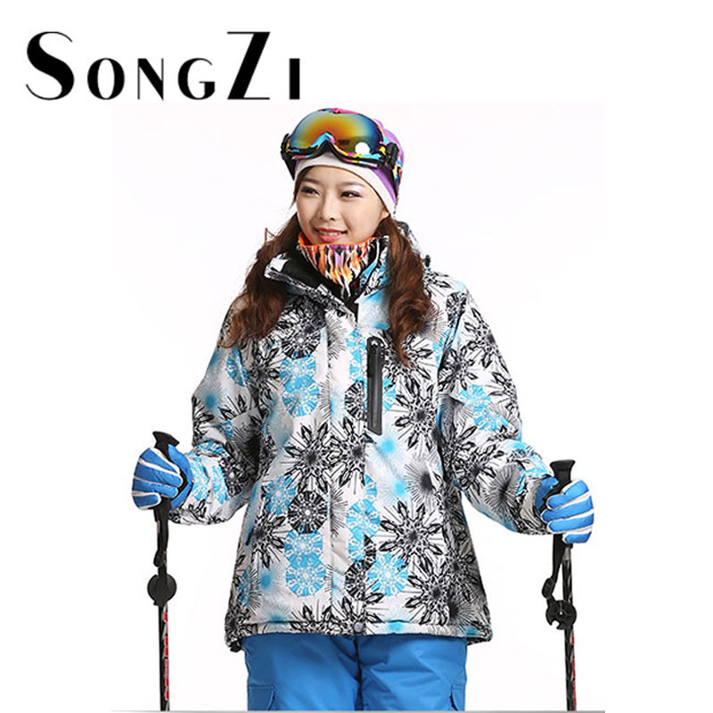 New 2015 good quality womens Winter waterproof snowboard jacket snow parka skiing suit special ski clothes womens ski jackets(China (Mainland))