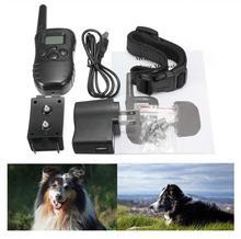 Lo nuevo 300 M recargable e impermeable del choque Vibra de Control remoto LCD eléctrico del entrenamiento del perro Collar envío gratis(China (Mainland))