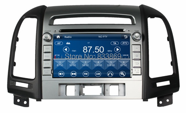 """New! 2 din 7"""" Car Radio DVD GPS Navigation for HYUNDAI SANTA FE 2012 With 3G Bluetooth IPOD TV USB SWC RDS AUX IN(China (Mainland))"""