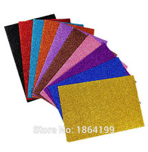 10pcs A4 colored EVA Sponge Glitters Foam Paper DIY toys(China (Mainland))
