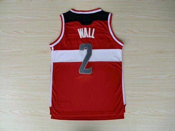#2 John Wall Jersey Rev30 Basketball Jersey, Embroidery Logo, White ,Red ,Free Shipping(China (Mainland))