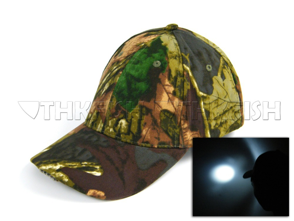 Light Camo 5 Led Lights Fishing Hat Vintage Camouflage Hunting Hat Fishing cap hiking cap(China (Mainland))