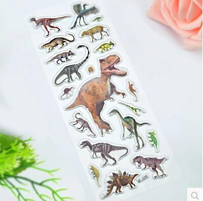Retail 3 Pieces / Set Cartoon sticker paper dinosaur books Gifts children - Love green store