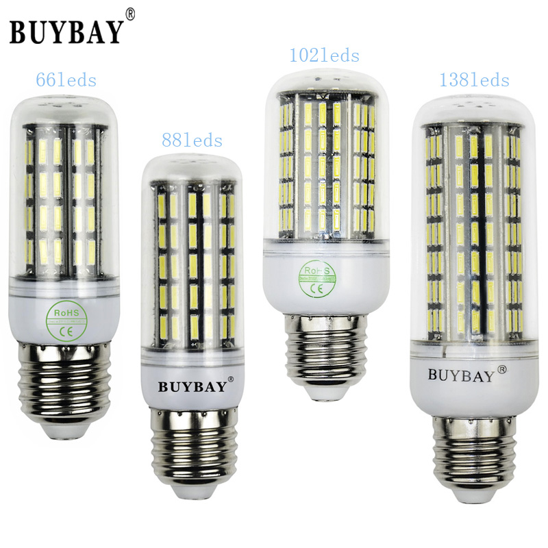 Better than 5730 66-102led 7020SMD E27 LED bulb 220V 110V bombillas e14 led lamp Chandelier Aluminum PCB led corn light 90-260V(China (Mainland))