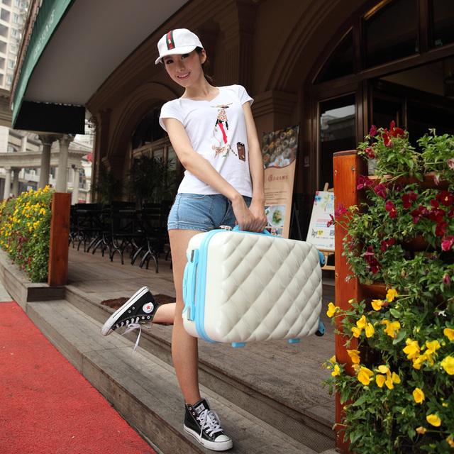 Travel bag trolley female 20 24 lock abs universal wheels travel bag luggage