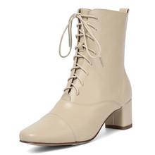 Bao da chính hãng chun gót thu Giày người phụ nữ Giày cao cấp phối ren thanh lịch cổ chân giày nữ giày nữ người phụ n(China)