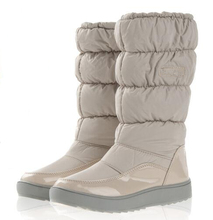 For -40 Degree Women Boots Winter Boots New 2016 Brand Waterproof Shoes Woman Snow Boots Fur Plush Inside Big Plus Size 35-41(China (Mainland))