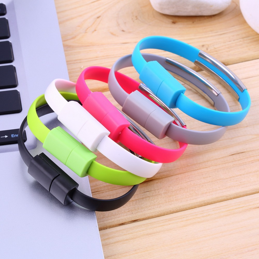 Wristband Micro USB Cable Bracelet Data Charging Line For Android(China (Mainland))