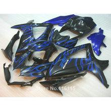 Buy Injection molding fairing kit SUZUKI K8 GSXR 600 700 2008 2009 2010 GSXR600 GSXR750 08 09 10 blue flames black fairings L for $339.48 in AliExpress store