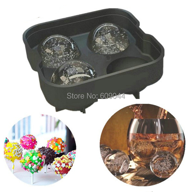 /retail Creative Party Bar Kitchen Whiskey Spherical Round Ball Ice Cube Maker Tray Mold Mould/Cake Mold/Ice Cream  -  European Street Fashion Mall store