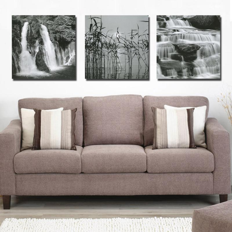 (No Frame) running water landscape Wall Art Picture Modern Home Decor Living Room Canvas Print Painting Wall picture RZ-ZH-200