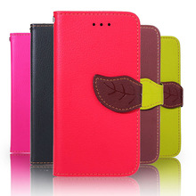 Leaf Style PU Leather Case Samsung Galaxy J2 J200 J200F J200G Cover Stand Wallet Flip Holster Phone +Lanyard - Jack Mobile Accessories Store store
