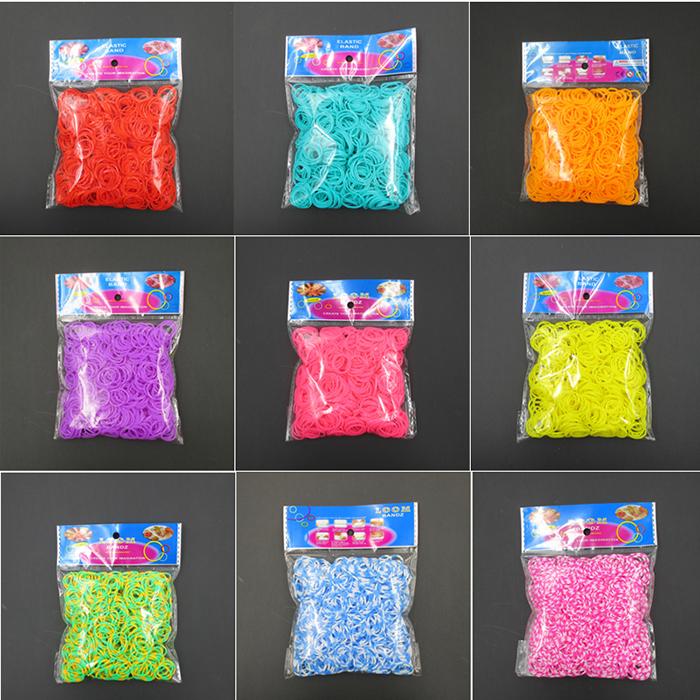 gum plaiting 20 Color 600pcs Colorful Rubber Bands Refill Weaving Bracelets Loom Bands Set Gum For Bracelets(China (Mainland))