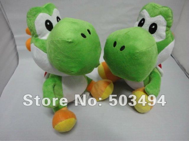 Free shipping EMS Wholesale 30/LOT Super Mario bros Green Yoshi plush doll toys 11 inches