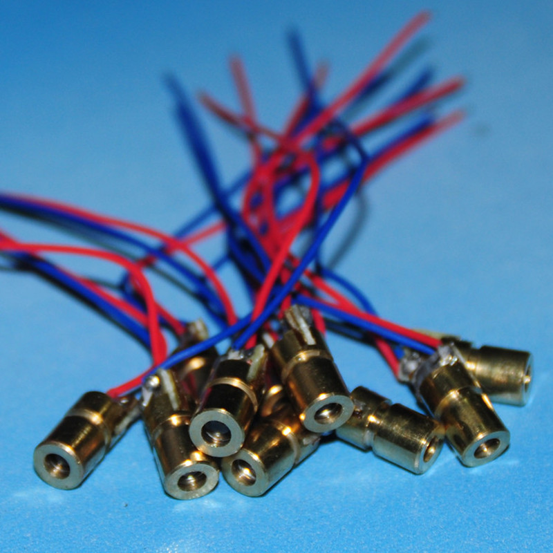 10pcs Laser Diode 3mw Laser Diod Module Diody LED RED Laser Diodo 650nm 6mm 3mw 3V LED Dot New DIY Kit Copper Head 650nm 3v 6mm(China (Mainland))