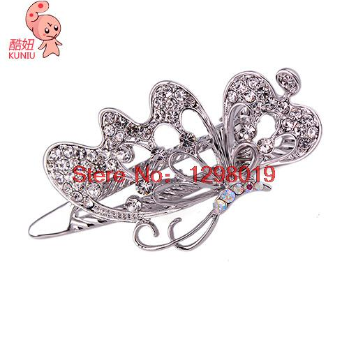 Explosion models duckbill hair accessories boutique butterfly flower hair clip claw BB folder zinc alloy barrettes lgq-0062(China (Mainland))
