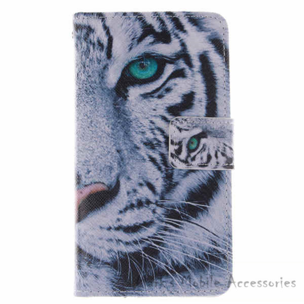 For Samsung Galaxy Core LTE G386F Hot Sale Painting PU Leather Flip Cover Wallet Phone Cases Stand Function Card Holders tiger(China (Mainland))
