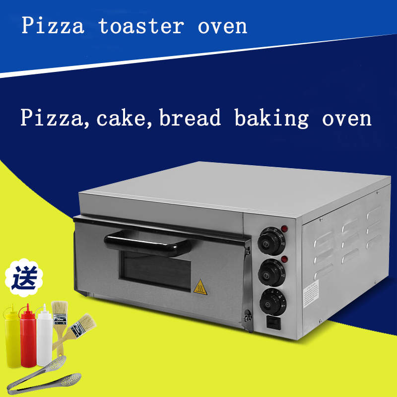 electrical stainless steel home/commercial thermometer single pizza oven/mini baking oven/bread/cake toaster oven(China (Mainland))