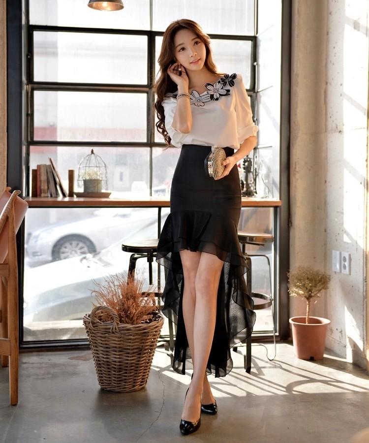 к 2015 году новых плюс размер запустить путь Хай стрит рыбы хвост бренд дизайн, труба Русалка асимметричные складки юбки длиной Миди