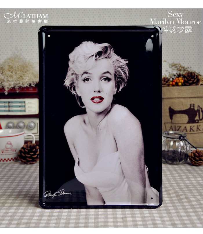 Marilyn Monroe Home Decor Tin Wall Signs Vintage Metal