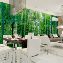 Custom wall decor murals papel de parede green bamboo forest photo wallpaper mural for living room tv sofa background decal(China (Mainland))