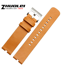 Watch band 22mm 100% Light Brown Genuine Leaher Watch strap Bands For Motorola Moto 360 Smart Watch
