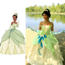 Ladies' Fancy Dress Adult Women The Princess and the Frog Tiana Cosplay Tiana Princess Costume Cosplay Green Princess Costume