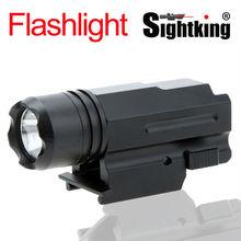 Тактический дробовик пистолет 600 лм кри из светодиодов лампы фонарик факел для охоты прицел света оптический прицел
