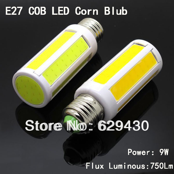 wholesale 100x e27 led cob corn light 9w led light bulb super bright. Black Bedroom Furniture Sets. Home Design Ideas