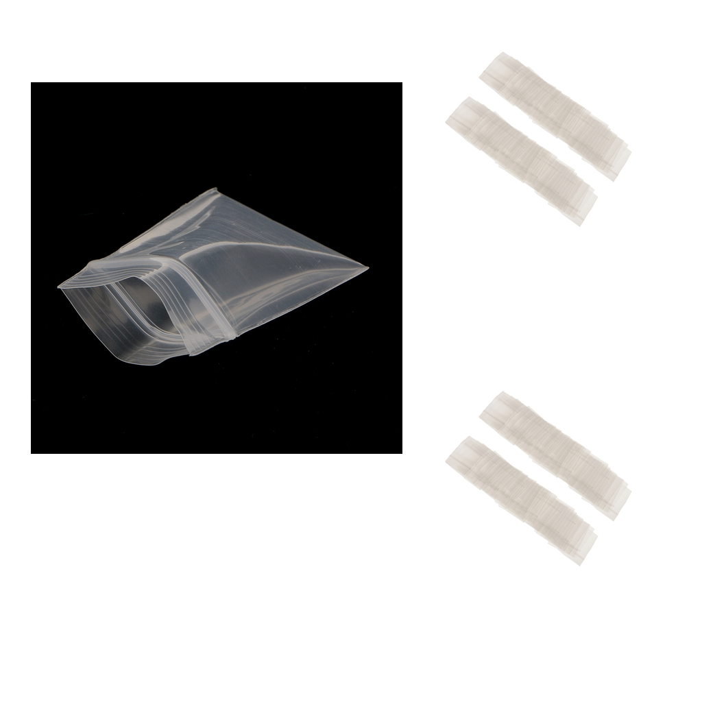 200pcs Mini Clear Zip Bag Poly Plastic Bag Recyclable Baggies for Coin Jewelry Sundries Storage Bag Travel Hiking Use - 2.4mil