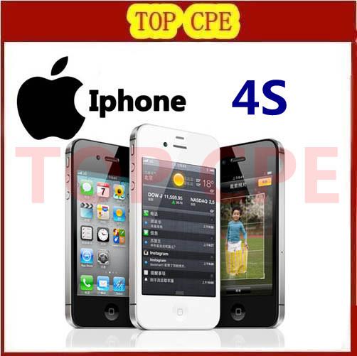 100% Original phone Factory Unlocked Iphone 4S phone 3.5'' 8MP Camera GSM WCDMA WIFI GPS Unlocked Cell phones One Year Warranty(China (Mainland))
