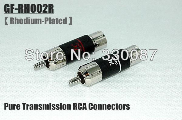 GaoFei GF-RHO02R Rhodium Hi-End RCA Plug connector 4 pcs