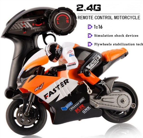 JXD 1:16 RC Motorcycle 2.4G 4 channels Boys Electric Toys CVT Radio Control Stunt Drift Motorcycles(China (Mainland))