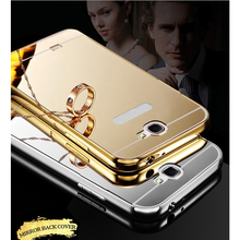 Mirror case For Samsung Galaxy Note 2 3 4 5 Capa Alumimum Metal Frame back cover for Samsung J1 J1ace J2 J3 J5 J7 N7505 S7 S5 S3(China (Mainland))