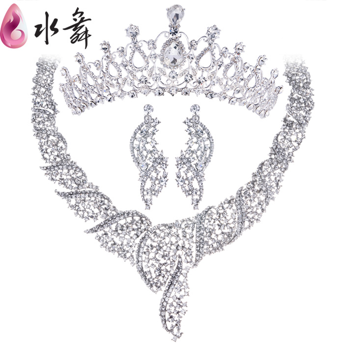 Free Shipping Rinestone Necklace Bridal Jewelry Sets Best Gift For Beautiful Bride Kiss Crystal Necklace Wedding Accessory sw001<br><br>Aliexpress