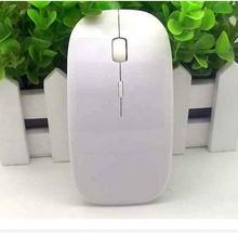 Party Supplies 100pcs/lot # Ultra Slim USB Wireless Mouse White MIni Optical Mouse(China (Mainland))