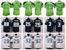 100% Stitiched,Seattle Seahawks,Marshawn Lynch,Richard Sherman,Kam Chancellor,Russell Wilsons,Jimmy Graham,Earl Thomas(China (Mainland))