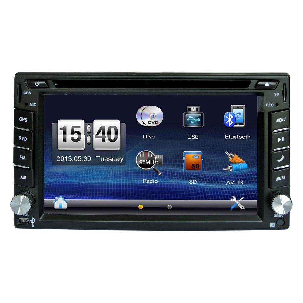 FREE Shiping Car DVD GPS Navigation 2DIN Car Stereo Radio Car GPS Bluetooth iPod USB/SD Universal Interchangeable Player LC0351(China (Mainland))