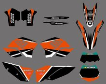 0281 NEW TEAM GRAPHICS WITH MATCHING BACKGROUNDS FIT FOR KTM SX XC XC-W EXC Series 2008 2009 2010 2011 - Cnc Motocross Graphics Parts store