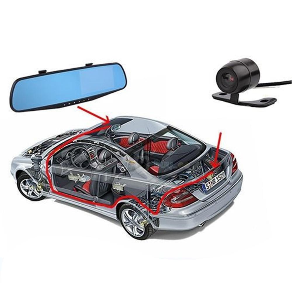 Dual lens car camera rearview mirror auto DVR parking video recorder registrator dash cam full  1080p night vision hot selling
