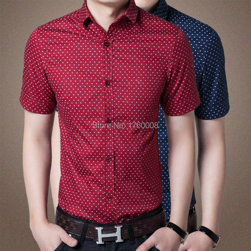 2015 summer special new men's wave short sleeved shirt Lapel cotton - The freezing point of casual clothing store